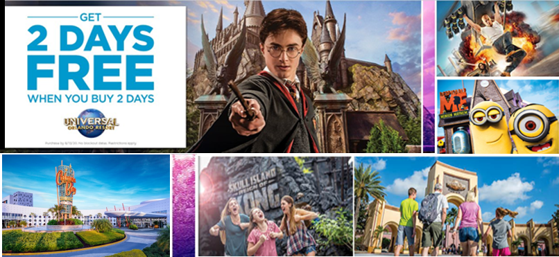 2 days free Universal Orlando Tickets